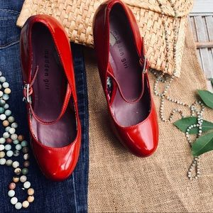 """Madden Girl Shoes - """"Madden Girl"""" Red Mary Jane Style Heels"""